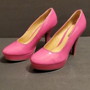 Kenneth Cole Barbie Pink Patent Leather Heels